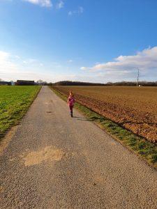 Lauf auf dem Feld